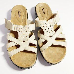 Clarks Leather Top Sandals